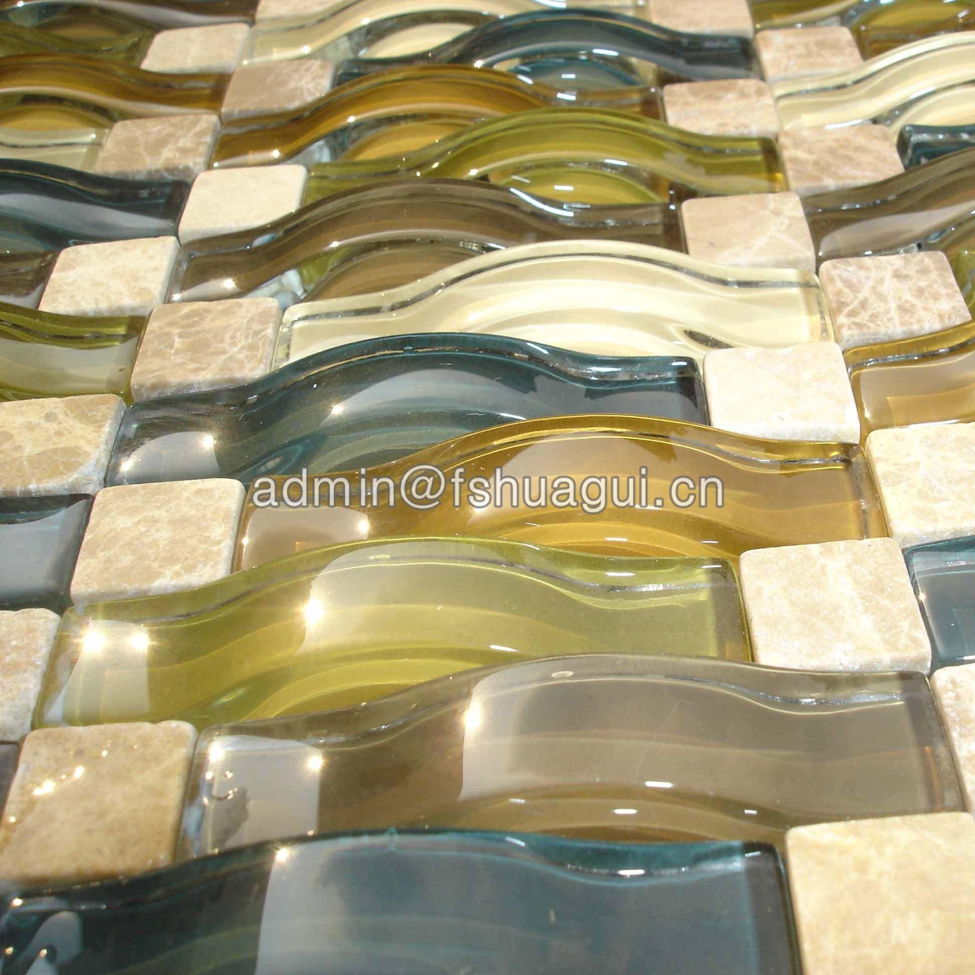 Huagui Glass mosaic tile HG-84007 GLASS MOSAIC TILE image62