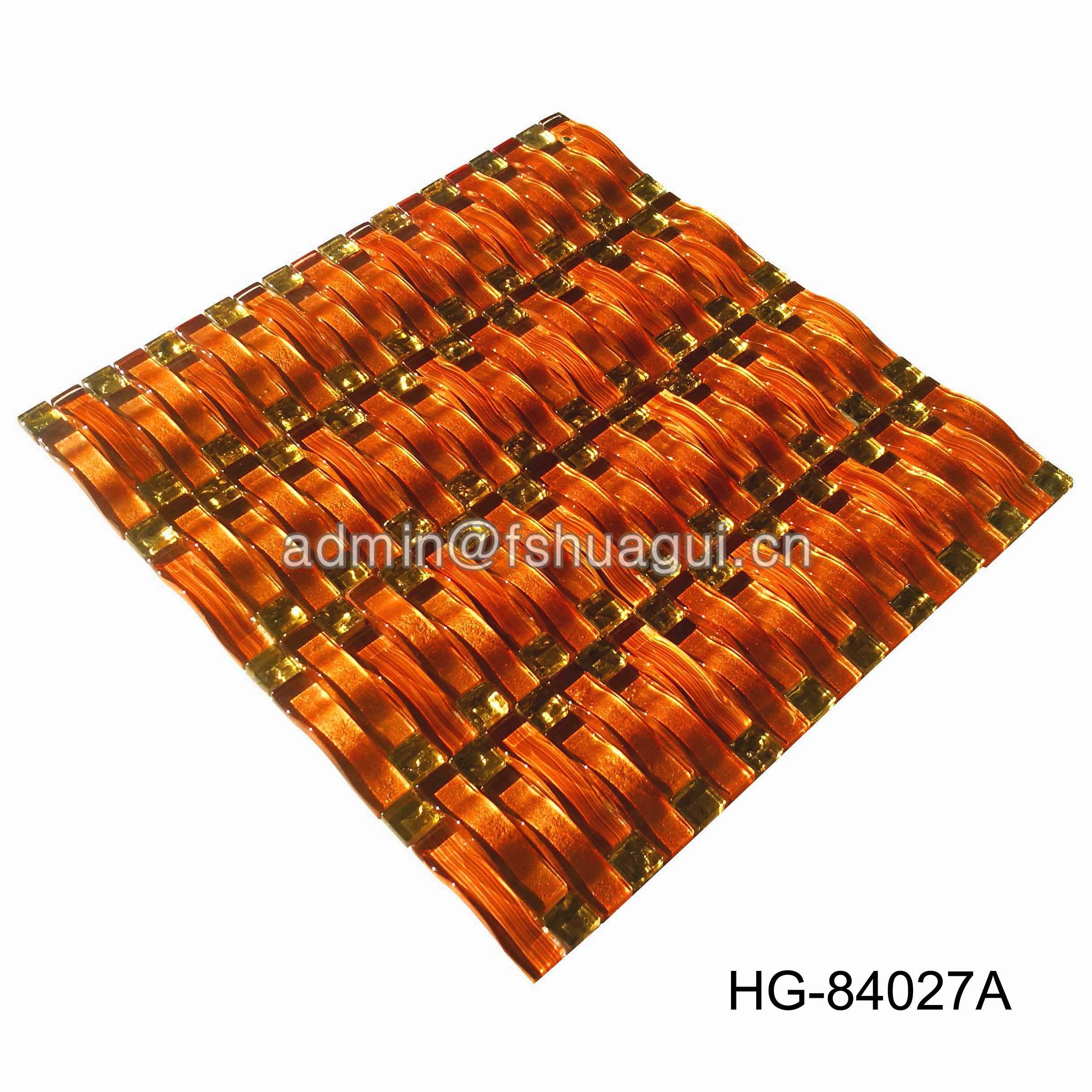 Huagui Luxurious  Rose Glad Color Glass Mosaic Tile For Wall  HG-84027A GLASS MOSAIC TILE image44