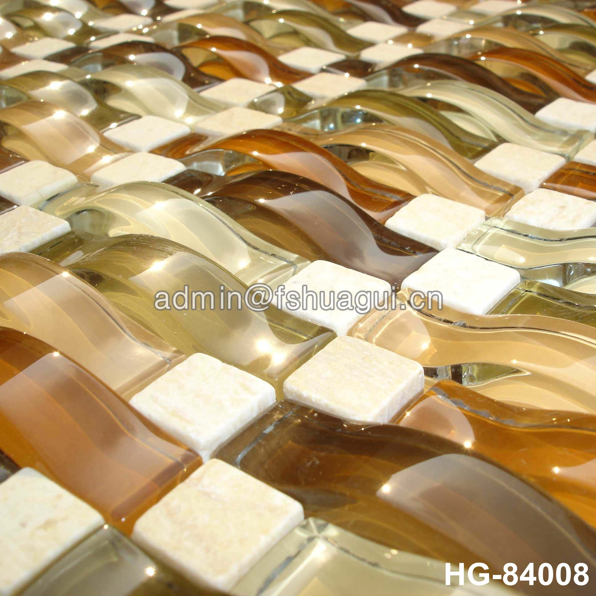 Huagui Glass mosaic tile HG-84019 GLASS MOSAIC TILE image53
