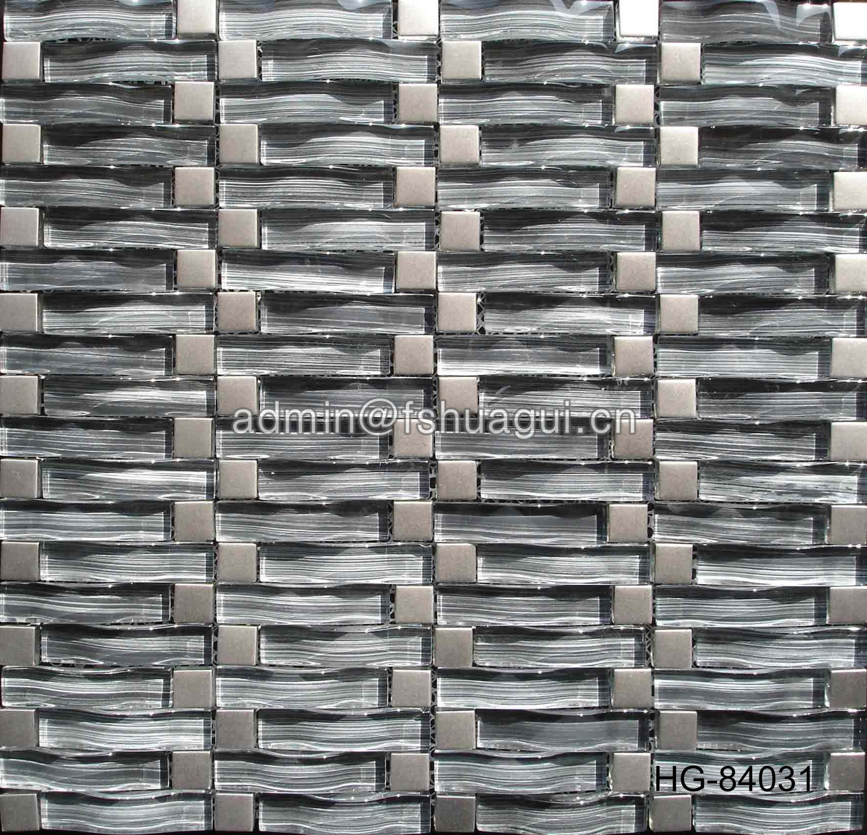 Huagui Popular Decorative Wall Pink Glass Mosaic Tile For Bedroom HG-84028 GLASS MOSAIC TILE image58