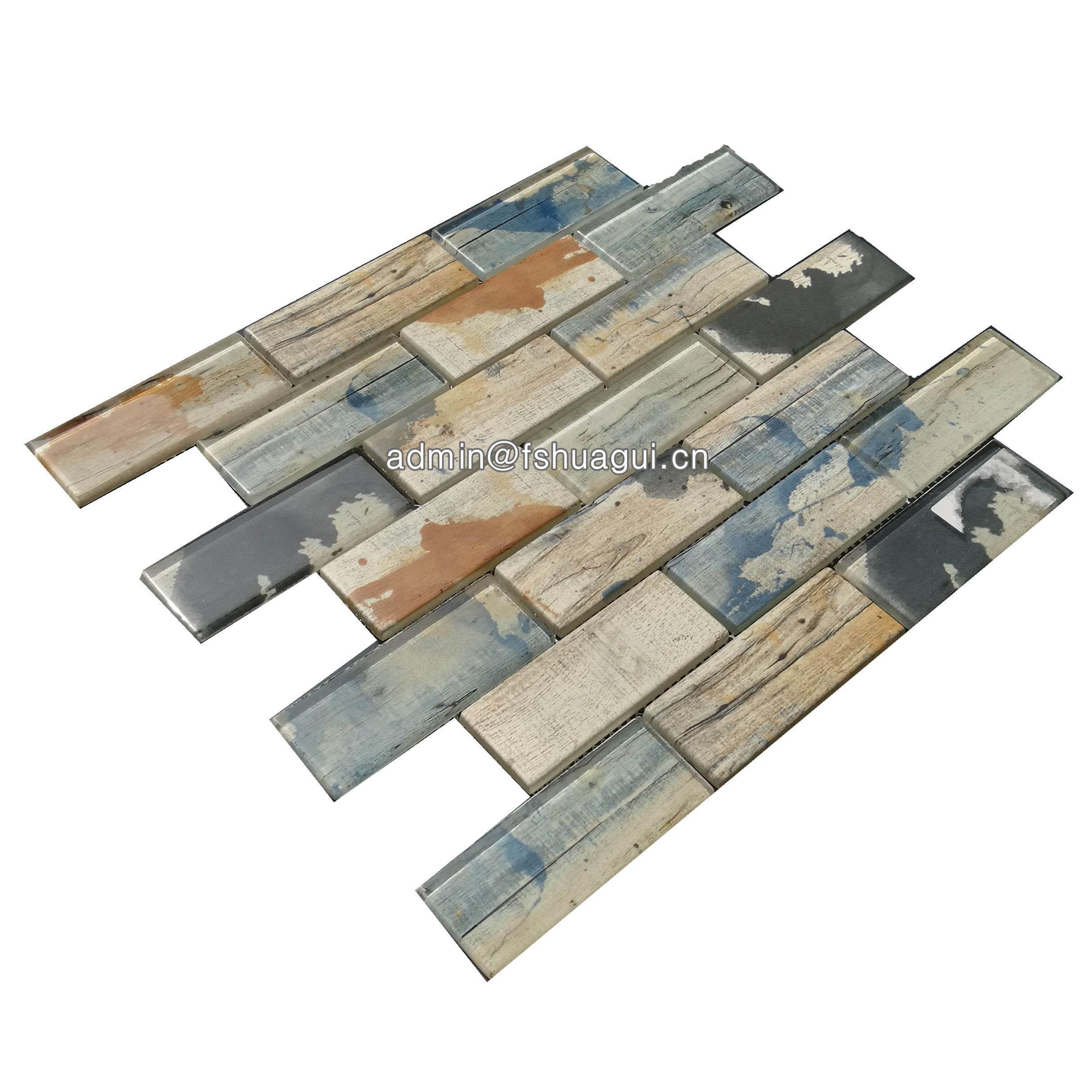 Huagui 2x4 graffiti brick pattern glass tile  HG-WJ409 GLASS MOSAIC TILE image24