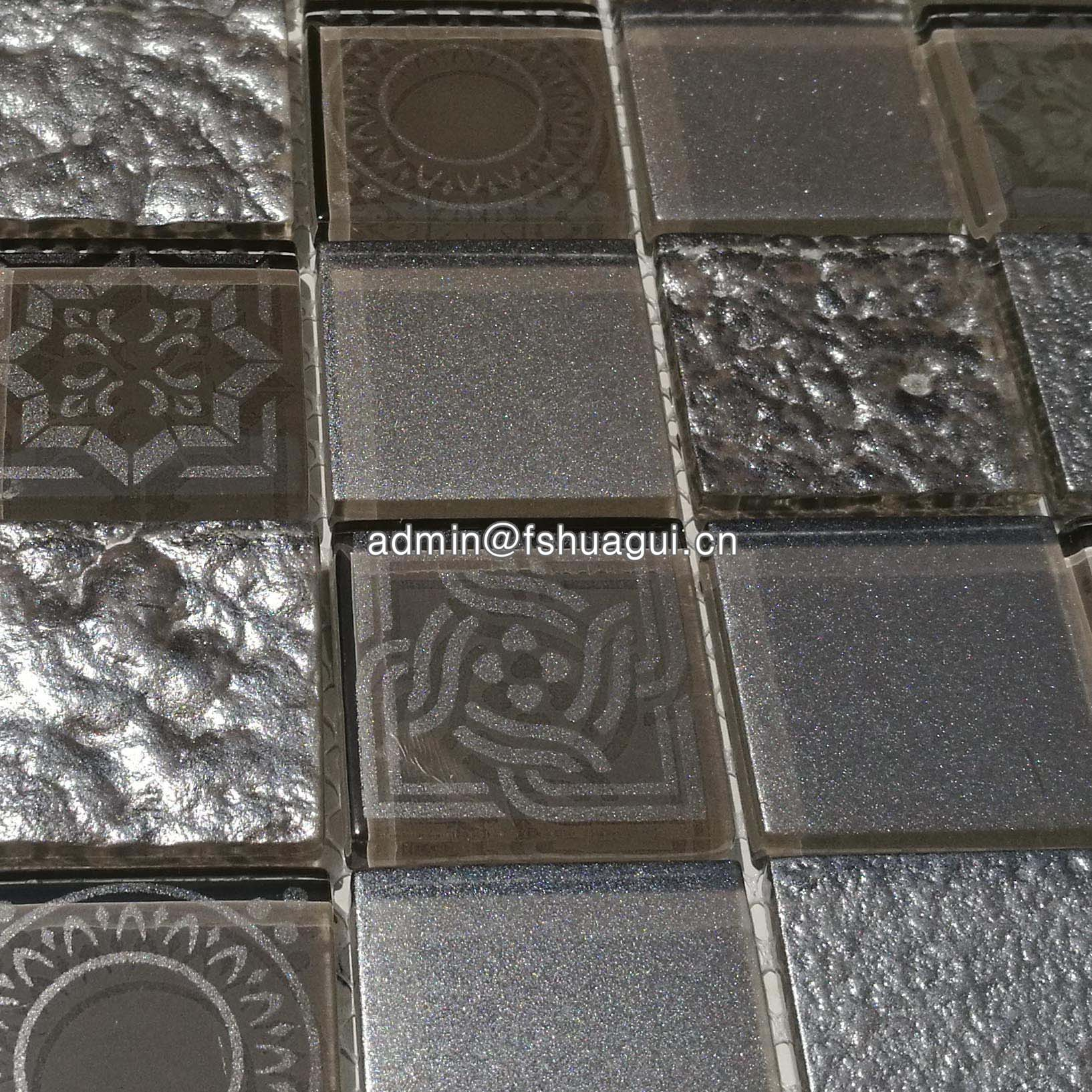 Huagui Square glass mosaic tile UK  HG-WJ417 GLASS MOSAIC TILE image22