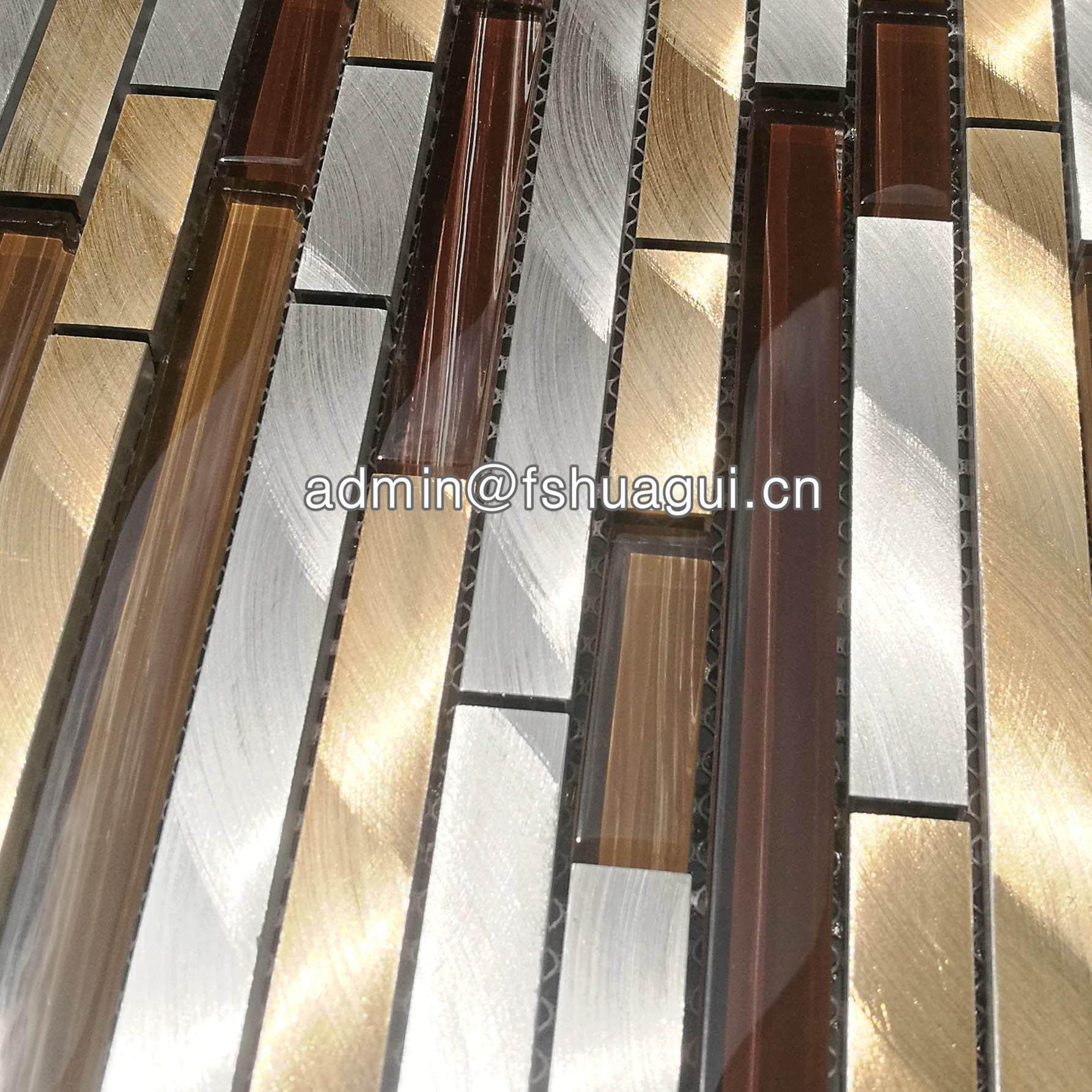 Keystone metal glass mosaic kitchen tile for house