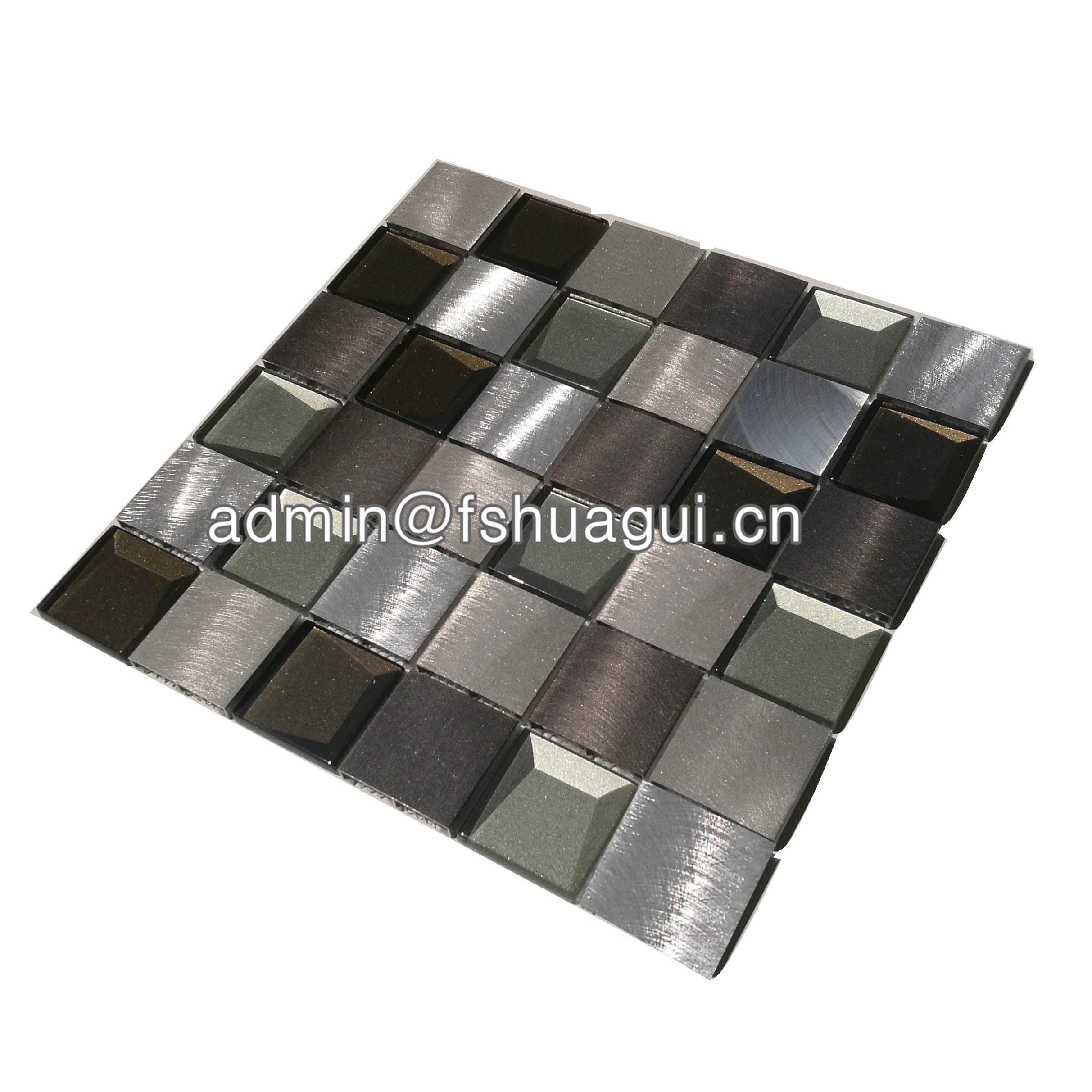 Huagui Rustic Panel Wood Mosaic factory   HG-WT001 WOOD MOSAIC TILE image1