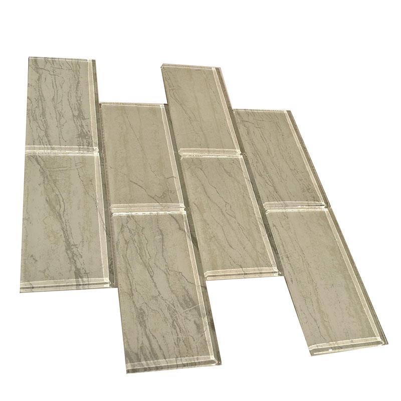 Inkjet gray glass subway tile home depot   HG-CDT662