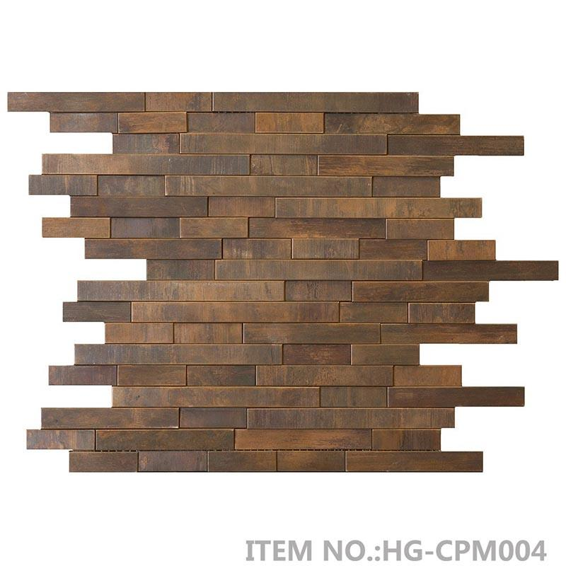 3D antique copper mosaic tile  HG-CPM001