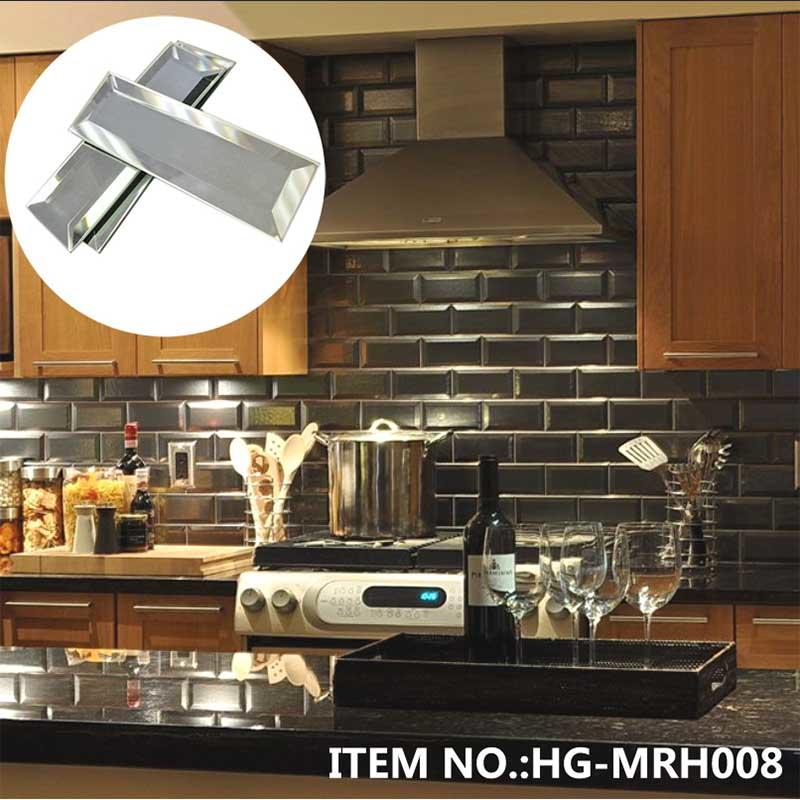 Reflection_Obsidian-Antique-Silver-Beveled-Mirror backsplash-designs  HG-MRH003/ HG-MRH004