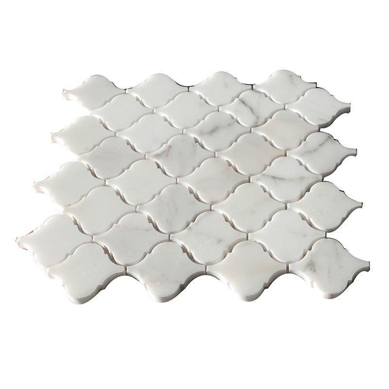 Arabesque polished stone mosaic kitchen tile HG-WJST001