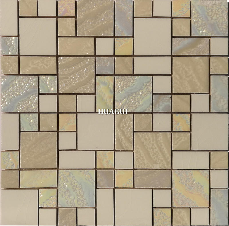 Iridescence glass mosaic tiles  decorate for kitchen and bathroom backsplash