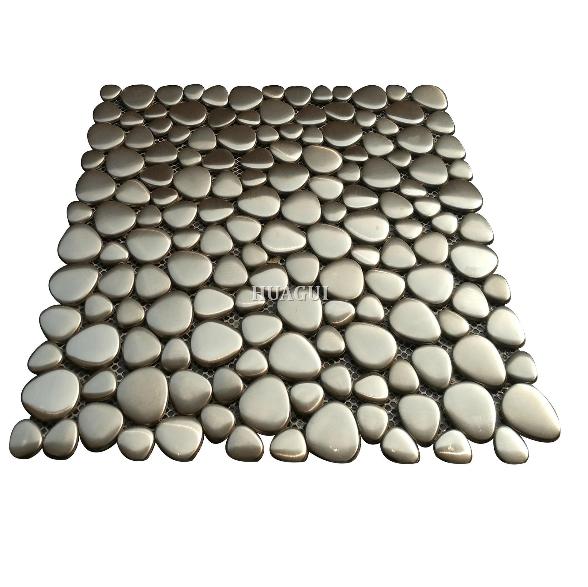 12''x12'' multi rounds stainless steel pebble mosaic tile in UK