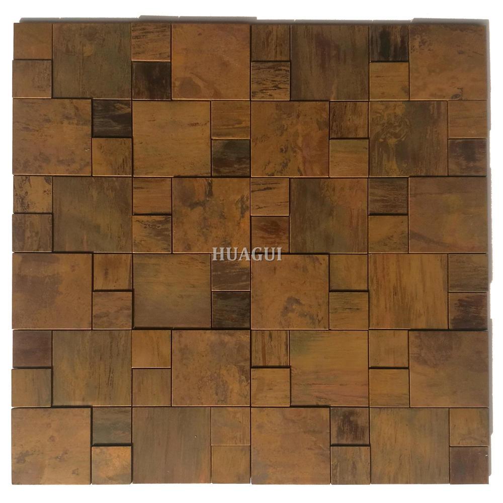 Antique bronze copper mosaic tile backsplash tile