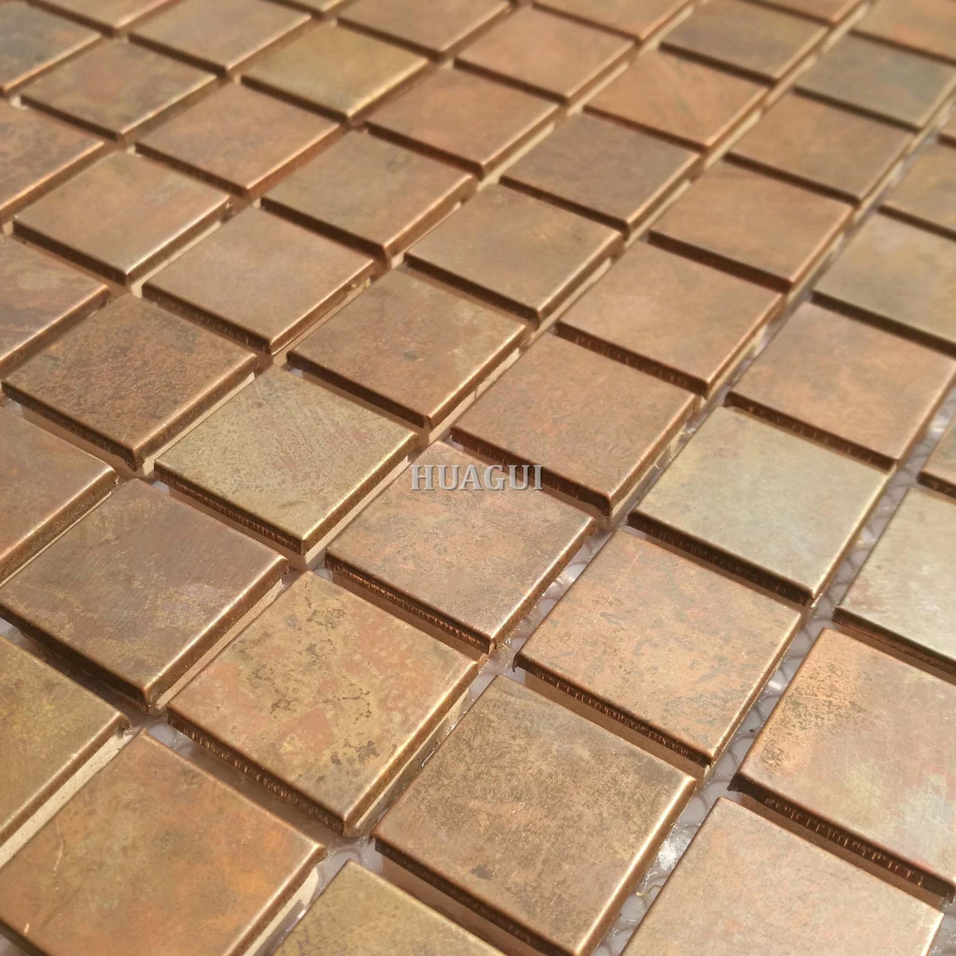Standard size copper backsplash mosaic tile for kitchen on sale