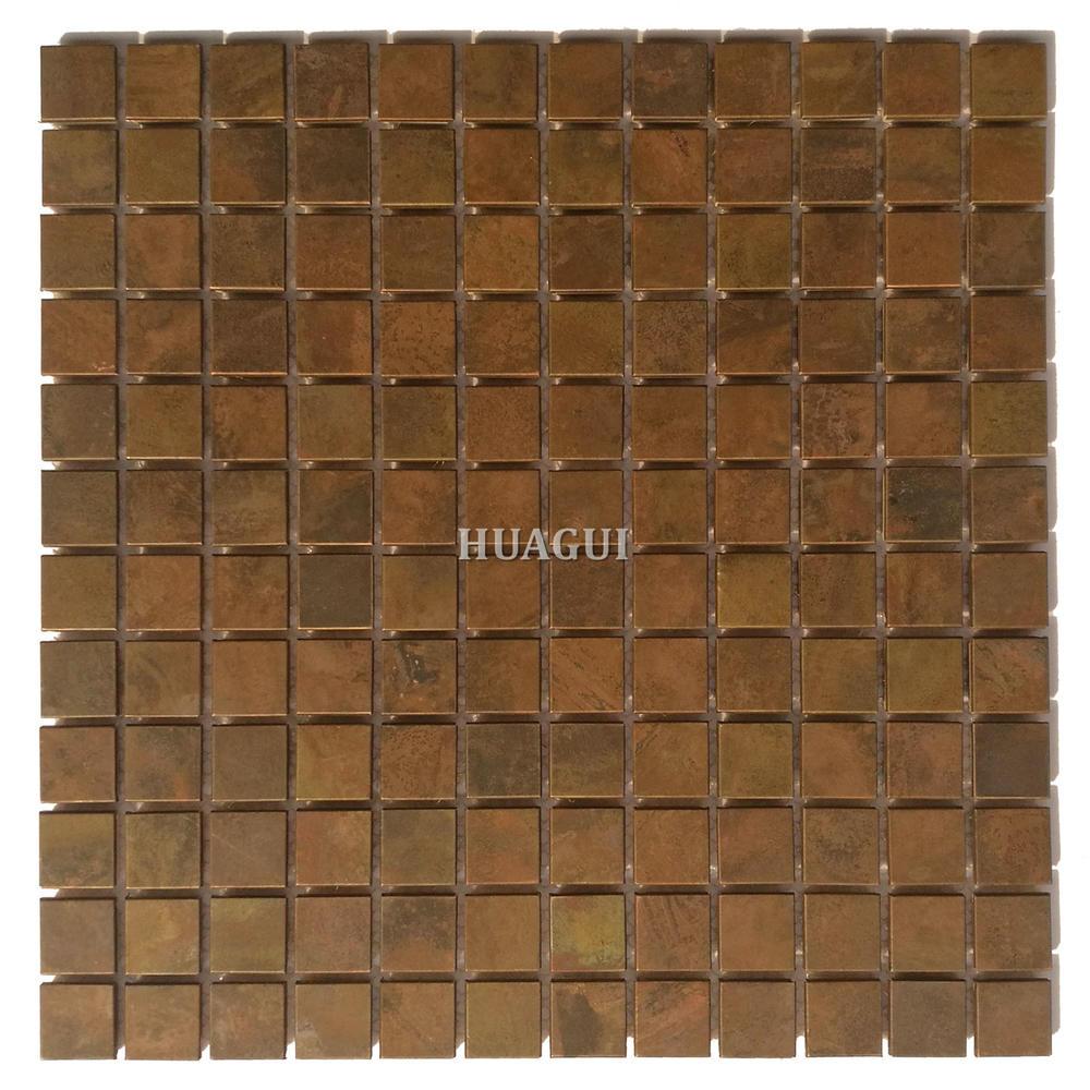Standard size copper backsplash mosaic tile for kitchen on sale