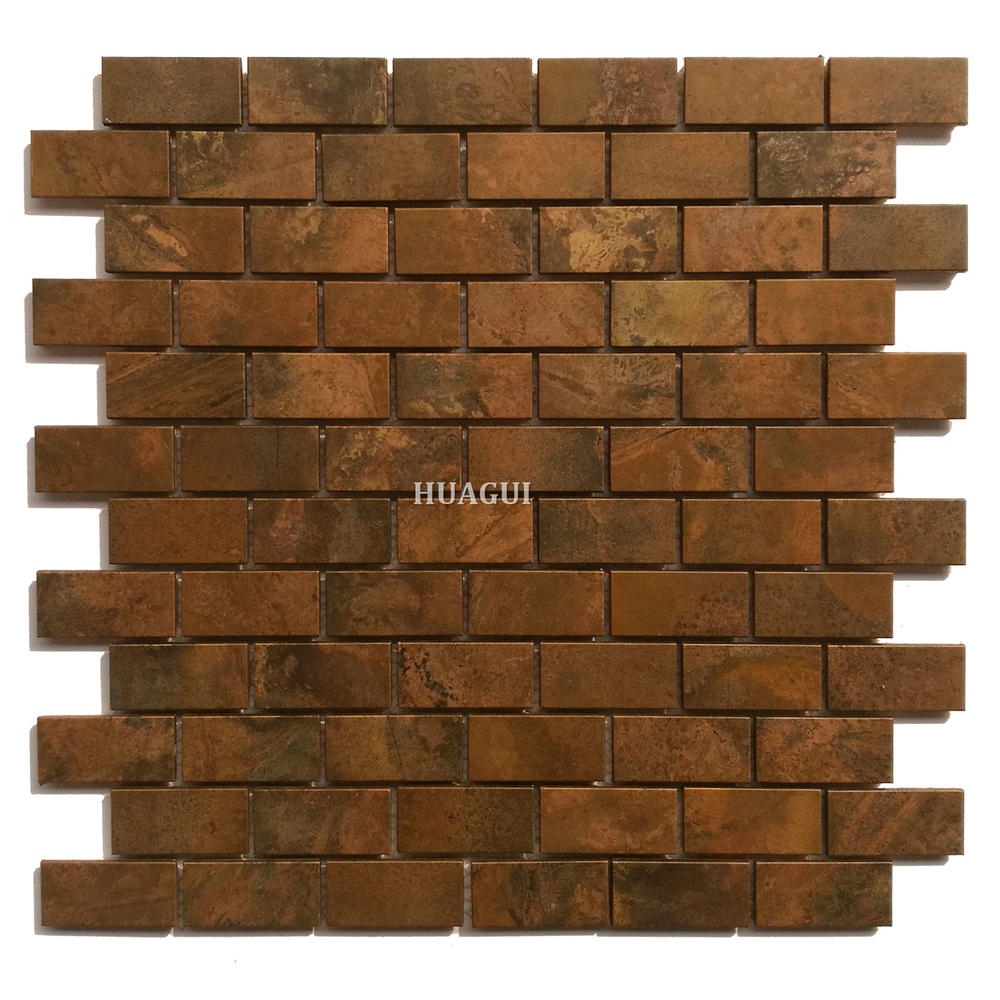 Classical style copper colored metal mosaic tile wall decoration UK