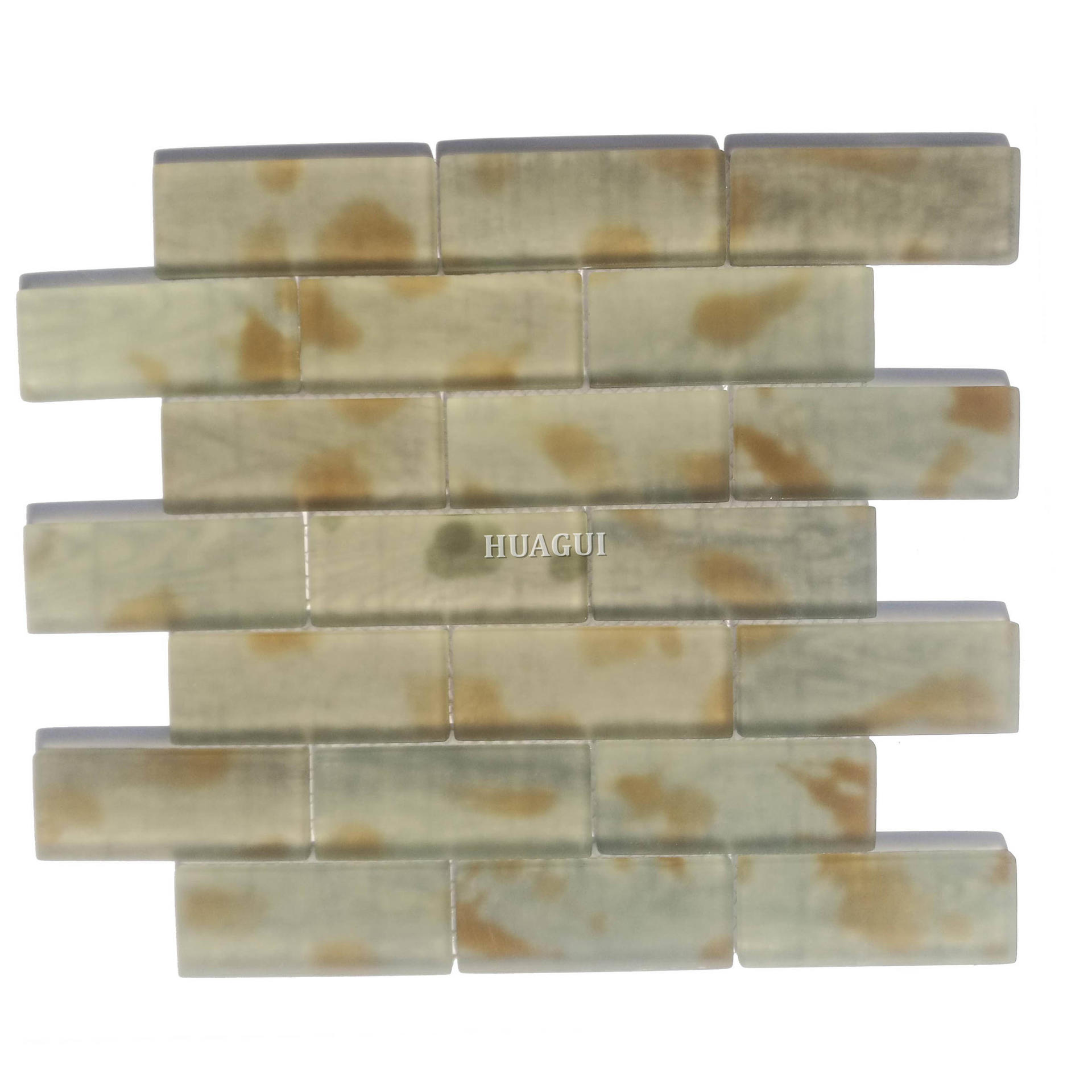 Novel subway matte glass mosaic tile UK