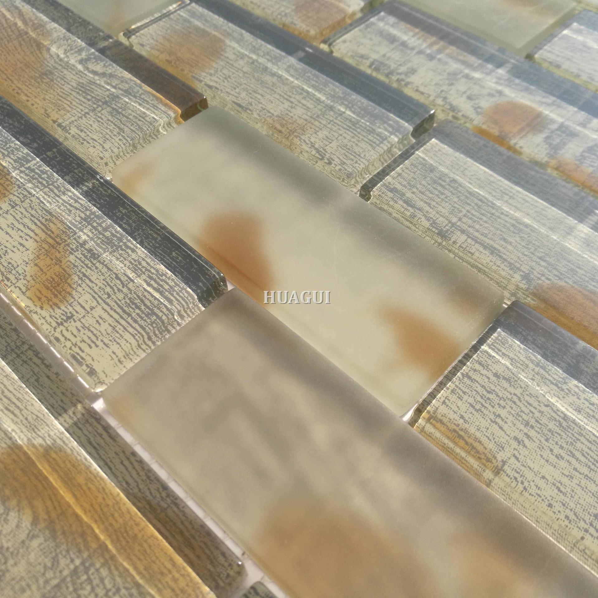 New design pattern 3x6 glass mosaic for the best kitchen backsplash tiles