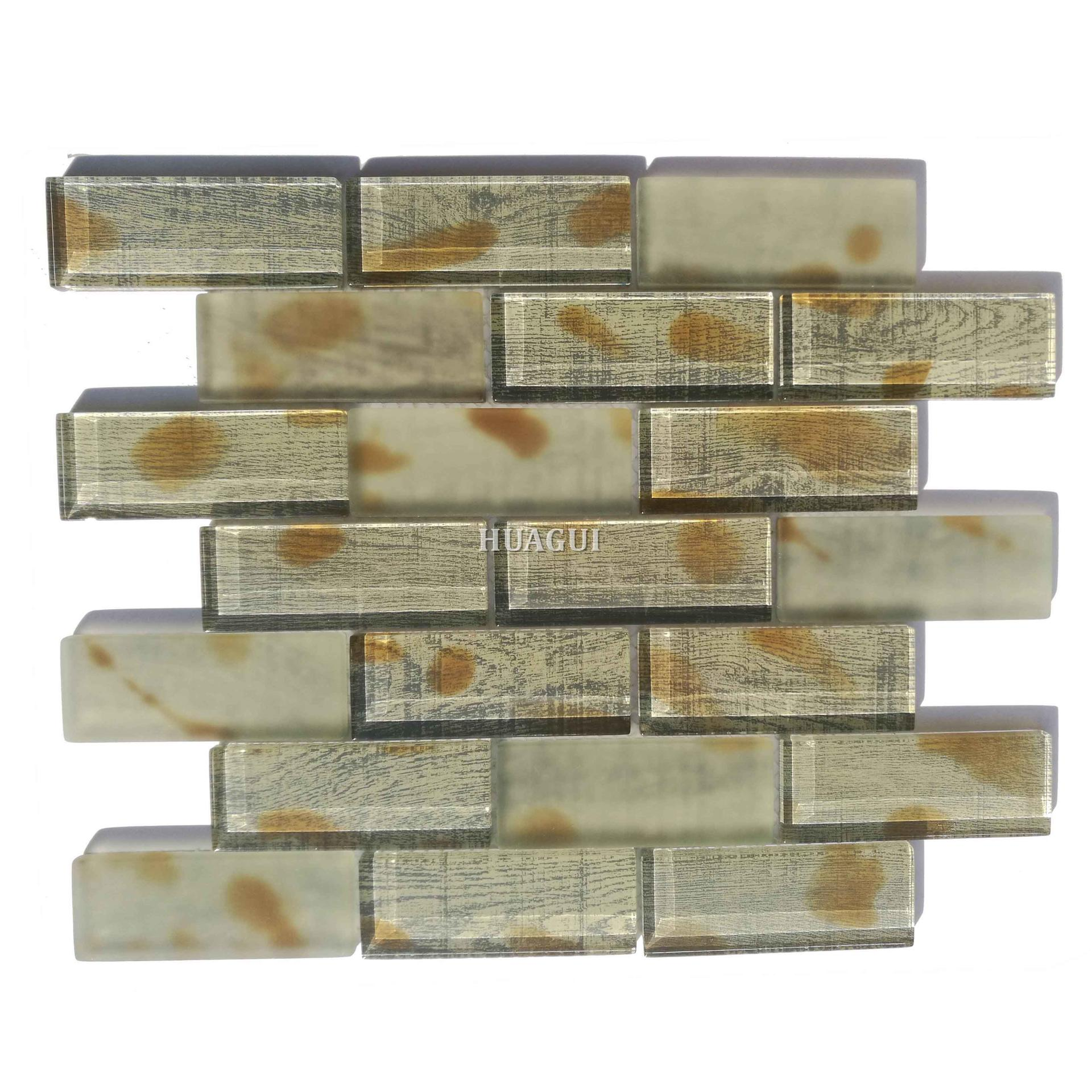 New design pattern 3x6 glass mosaic for the best kitchen backsplash tiles