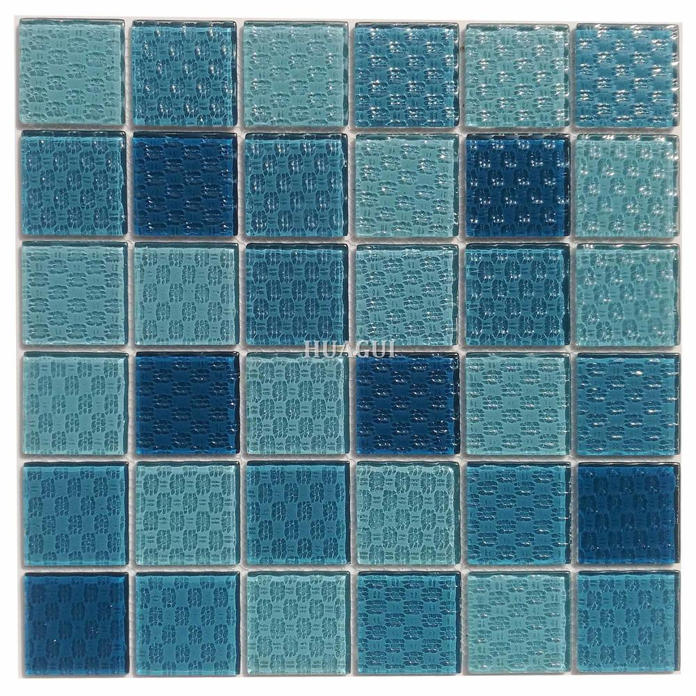 Popular non-slip discount glass  mosaic swimming pools tile in India