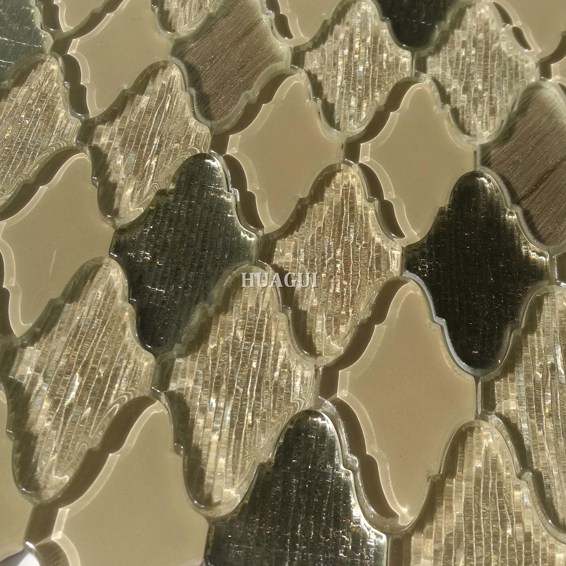 Idiographic arabesque glass mosaic wall tile ideas