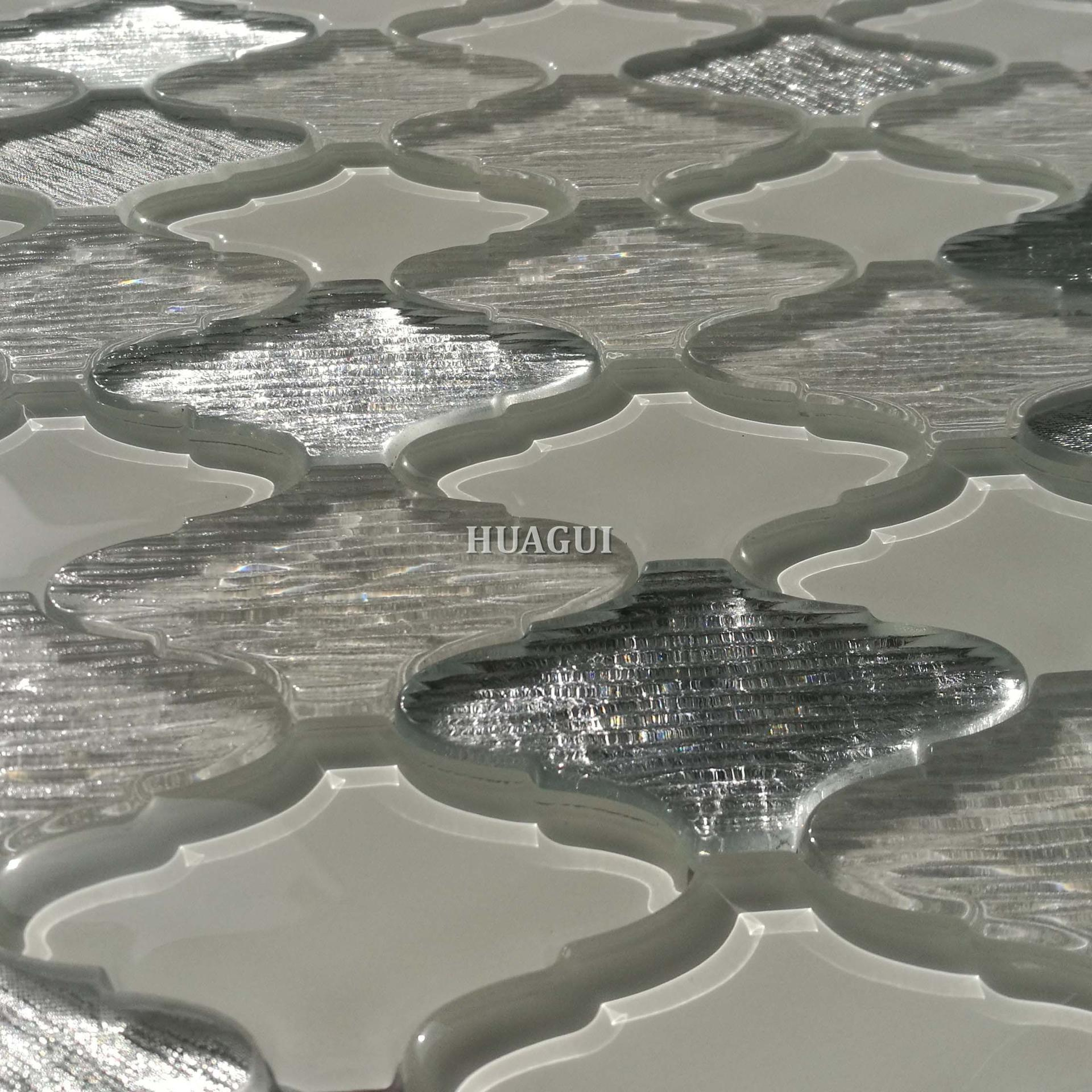 Los angeles gray and white water jet mosaic kitchen backsplash patterned