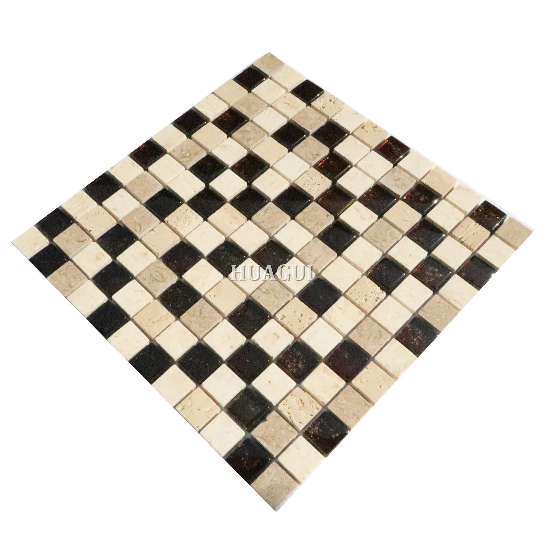 Natural stone mix glass mosaic backsplash floor tiles stores