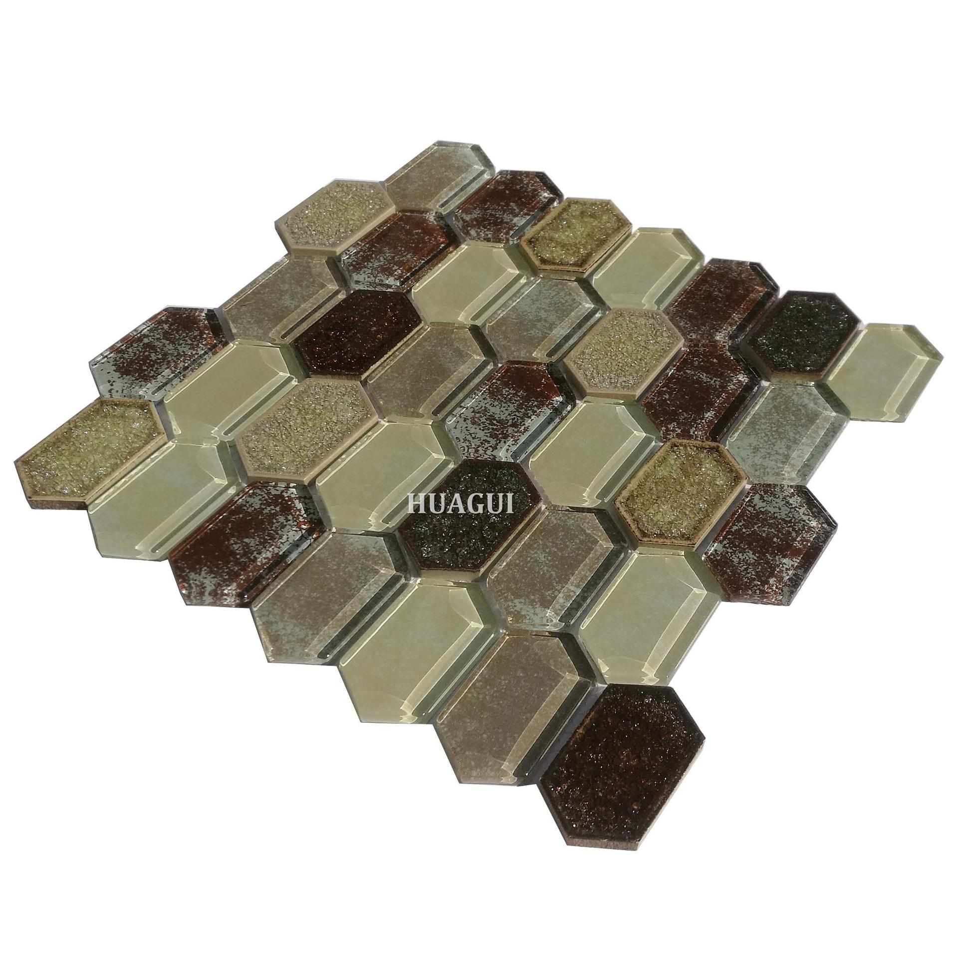Broken glass ceramic backsplash mosaic tile art  wall patterns in London