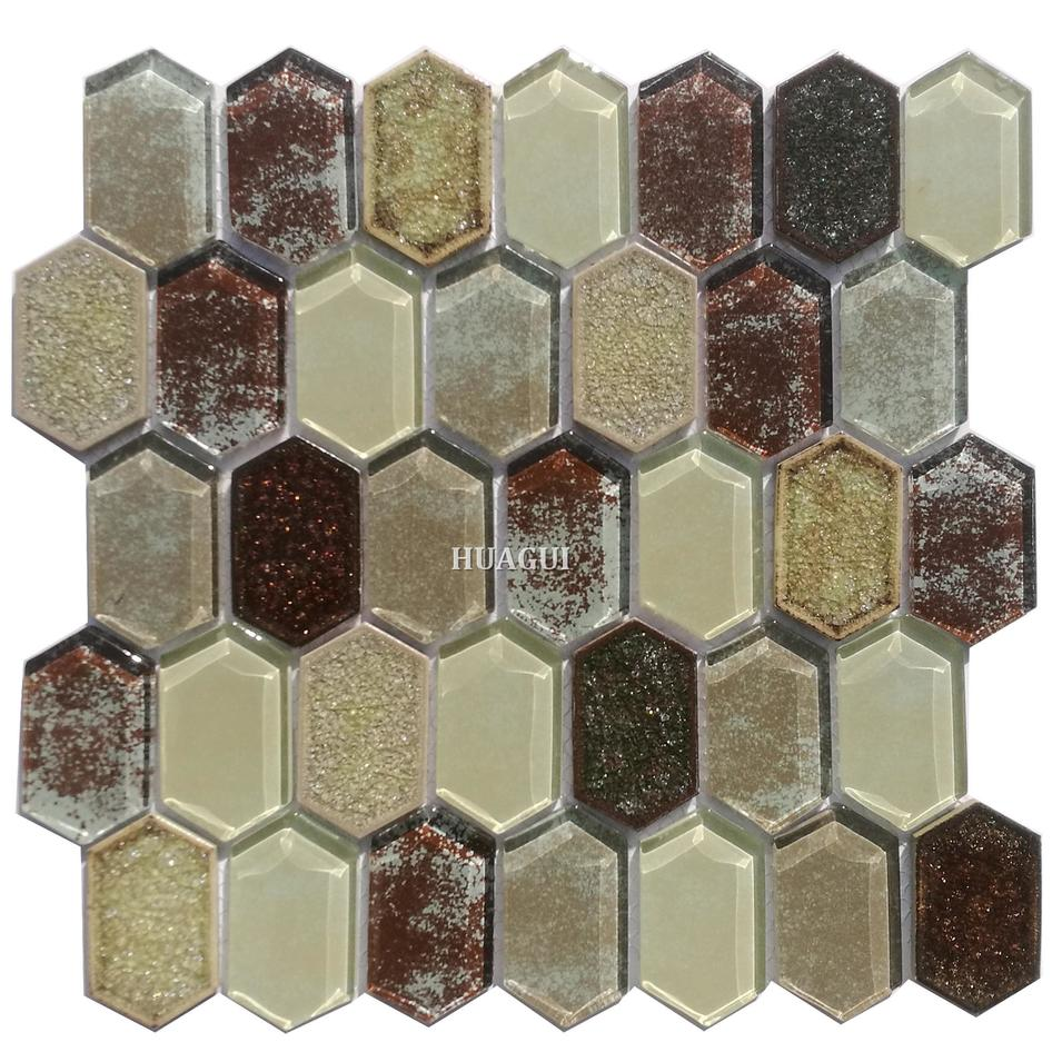 Broken glass ceramic backsplash mosaic tile art  wall patterns in London