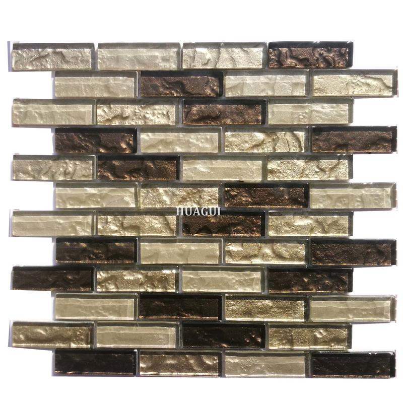 First choice 23x73 size brown color glass mosaic tile patterns supplies