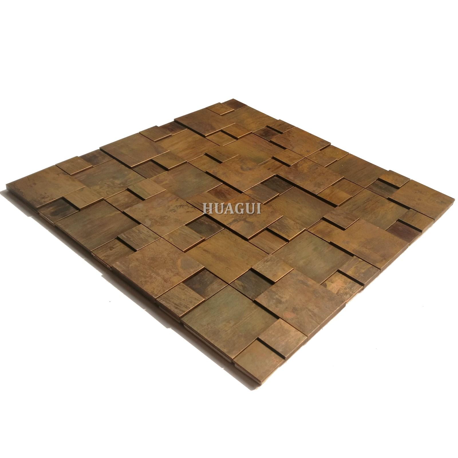 Huagui bronze copper mosaic tile company for home-1