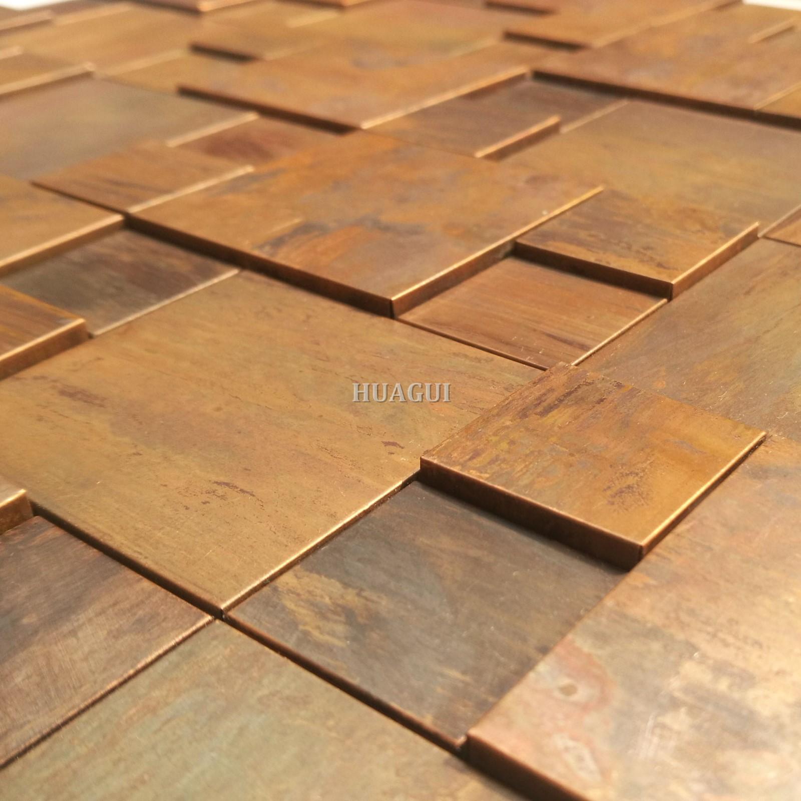 Huagui bronze copper mosaic tile company for home-2
