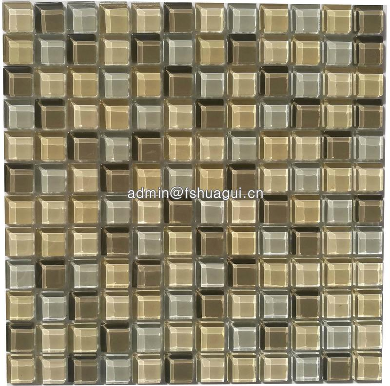Crystal glass mosaic for interior decoration glass glossy tile