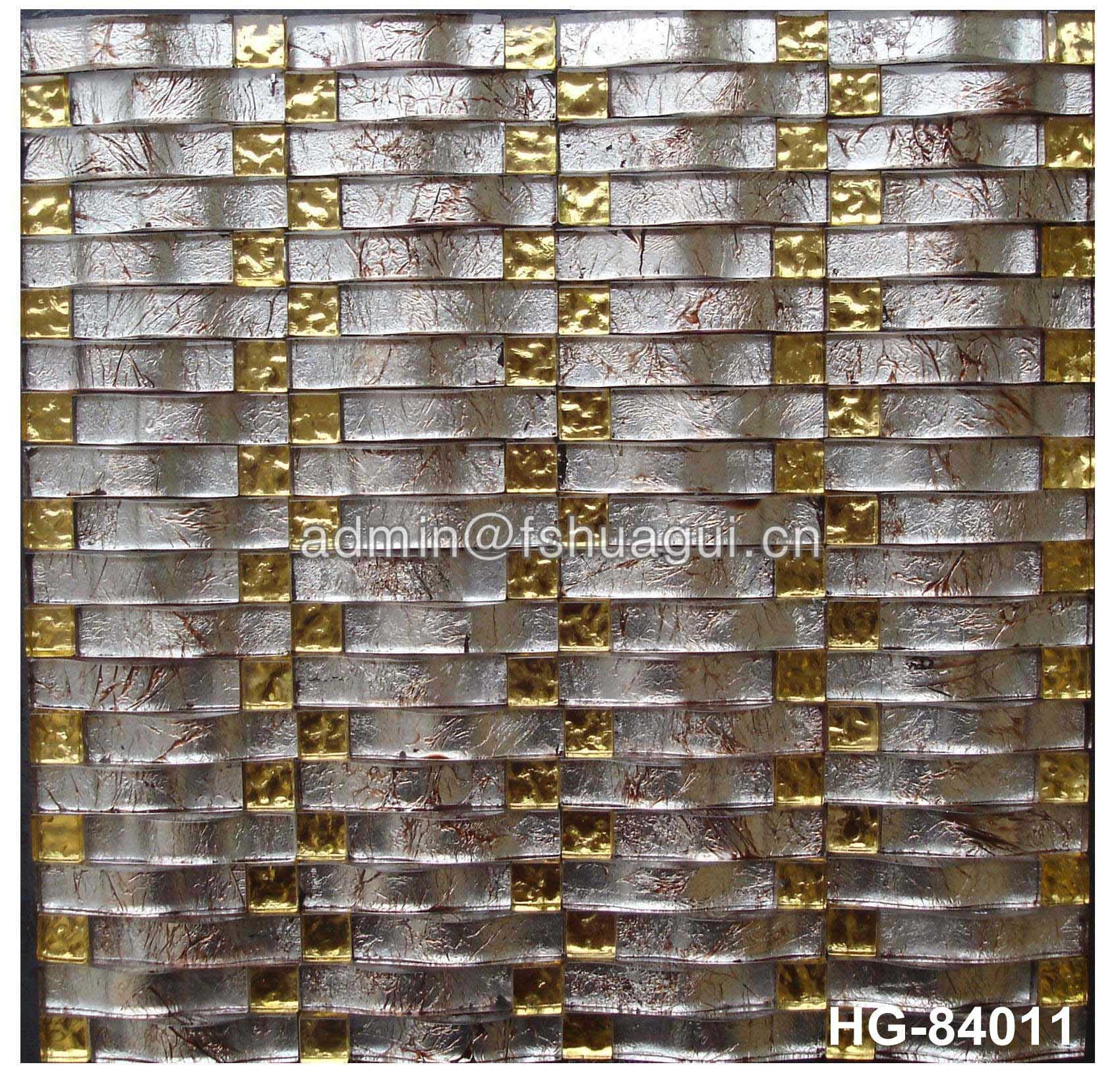 China manufacturer of 3D wave crystal glass mosaic tile for kitchen backsplash