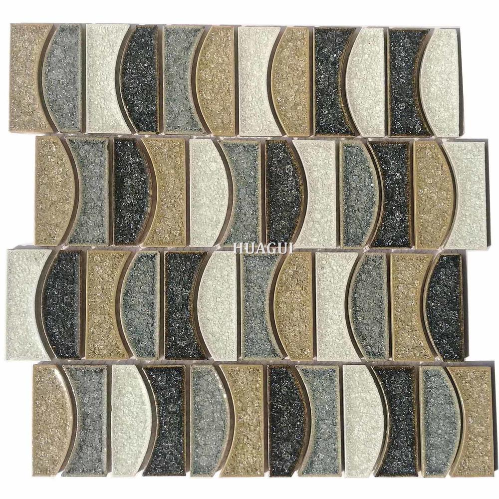 Wholesale antique blue moon ceramic mosaic tile design idea