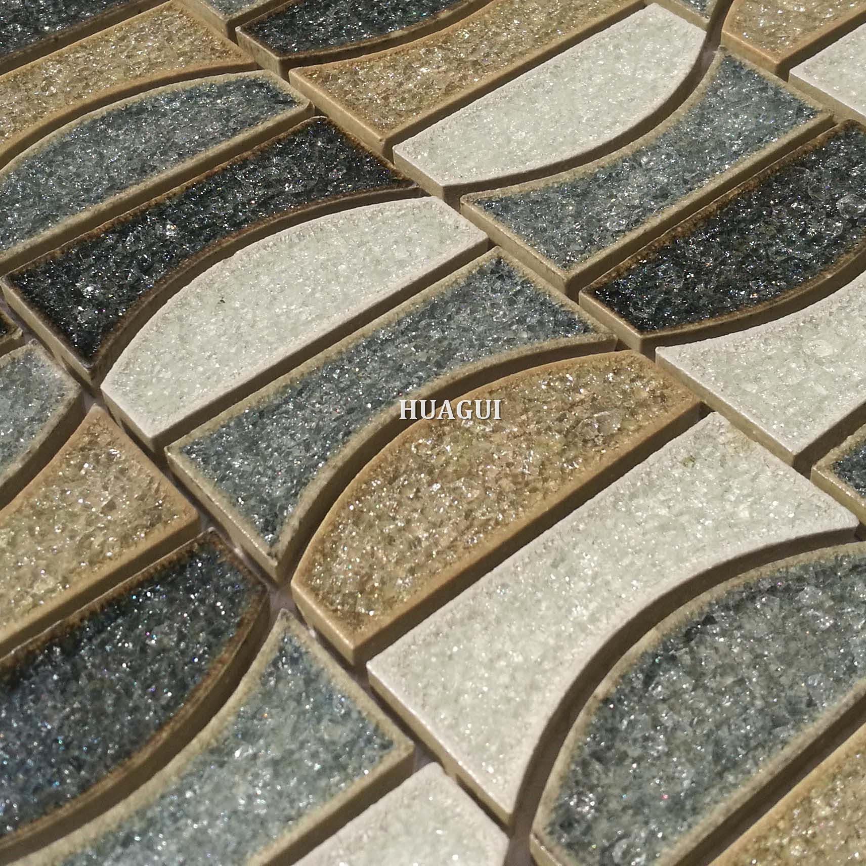 Wholesale antique blue moon ceramic mosaic tile design idea