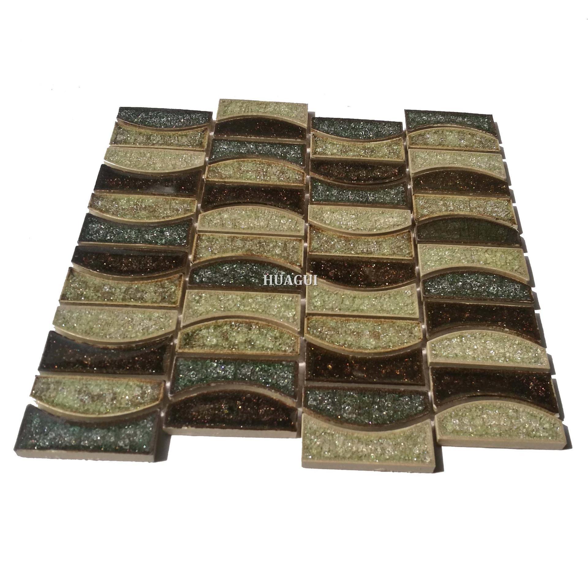Classic interior ceramic moon design mosaic wall tile