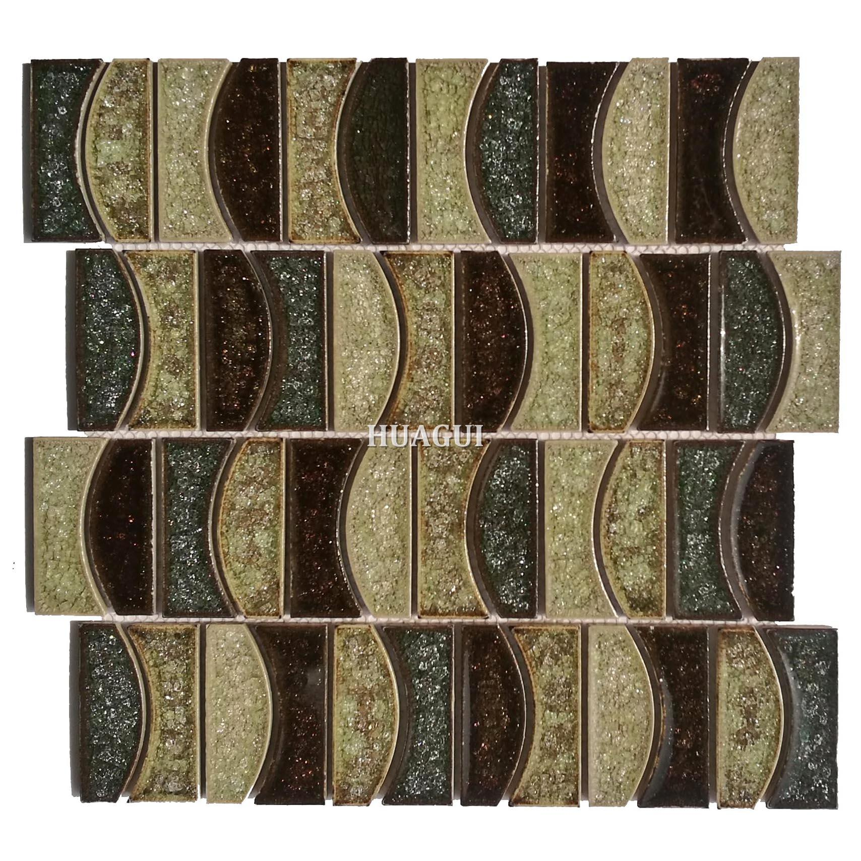 Classic interior ceramic moon design mosaic wall tile
