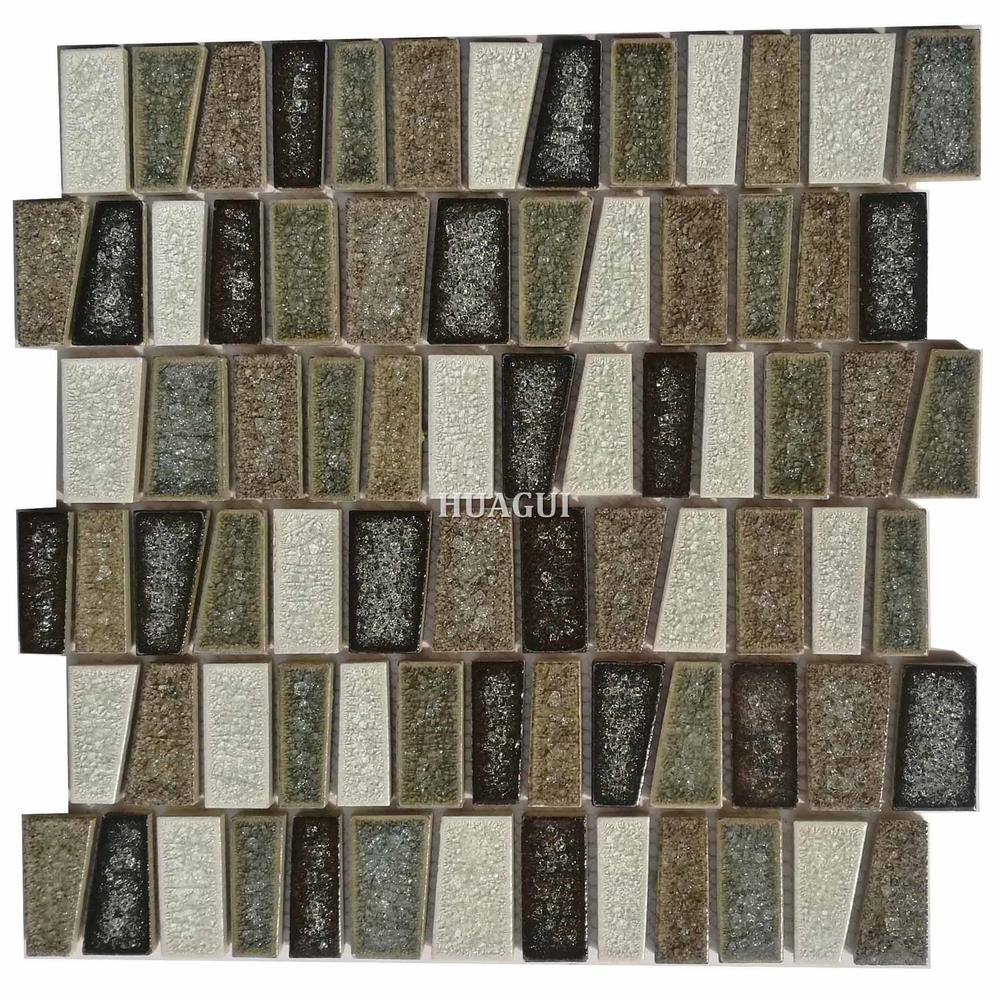 Irregular ceramic mosaic tile designs for kitchen backsplash