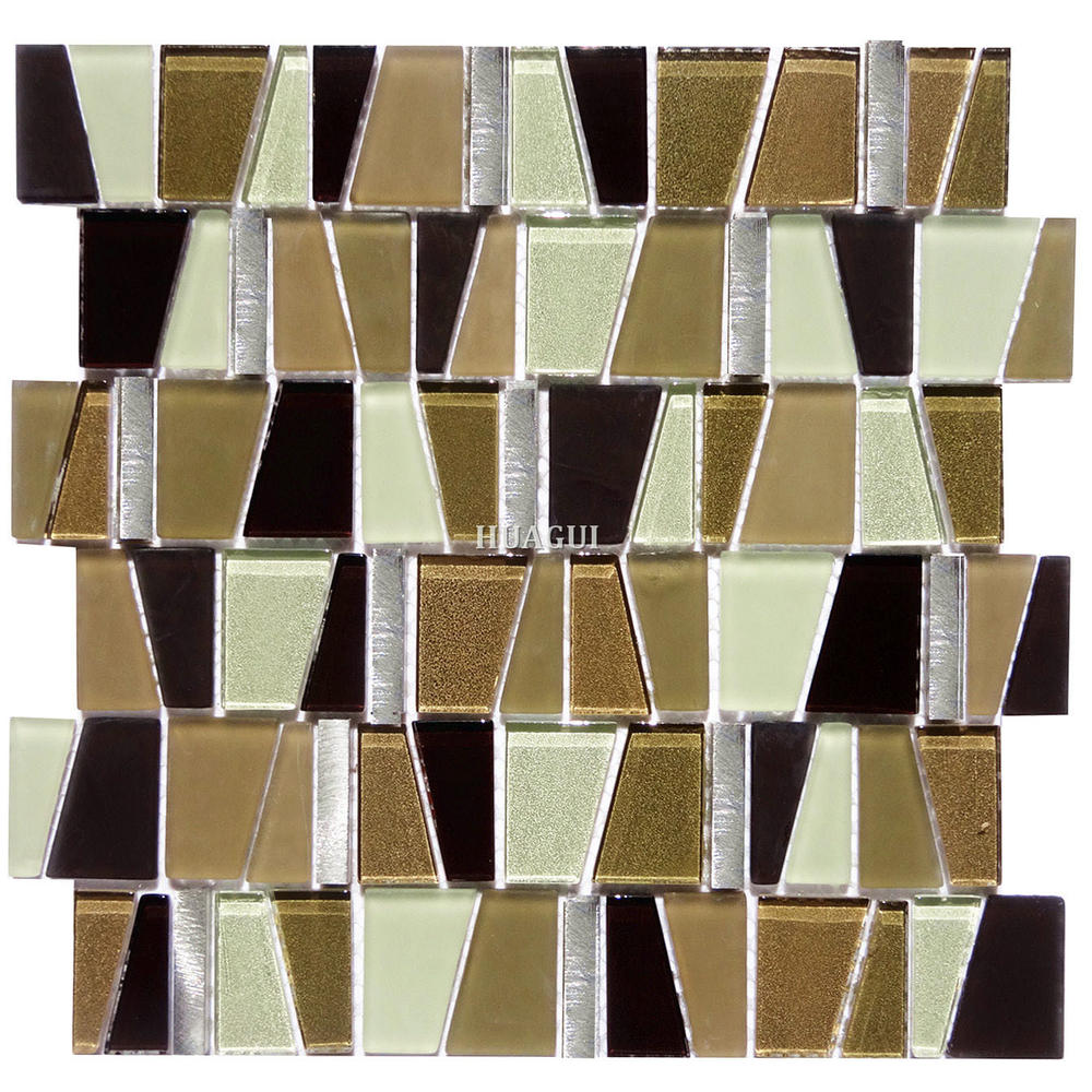 Frosted glass metal mosaic decoration for special interior walls