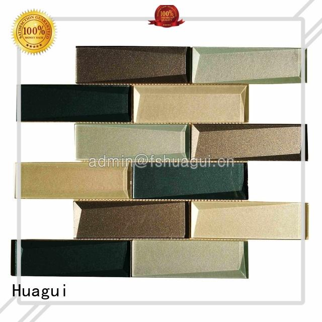beige glass subway tile california for indoor Huagui