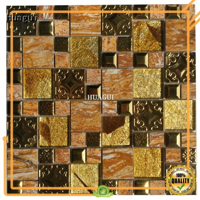 Huagui idiographic gray glass mosaic tile for business for wall