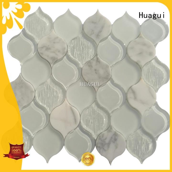 Huagui villa natural stone mosaic tile sheets suppliers for outdoor