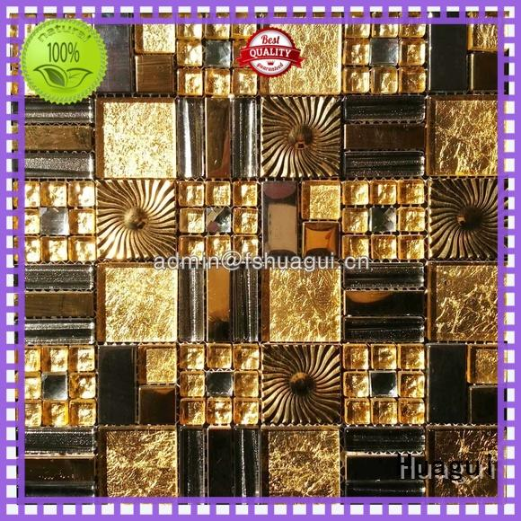 Huagui copper glass metal stone mosaic tile for business for home