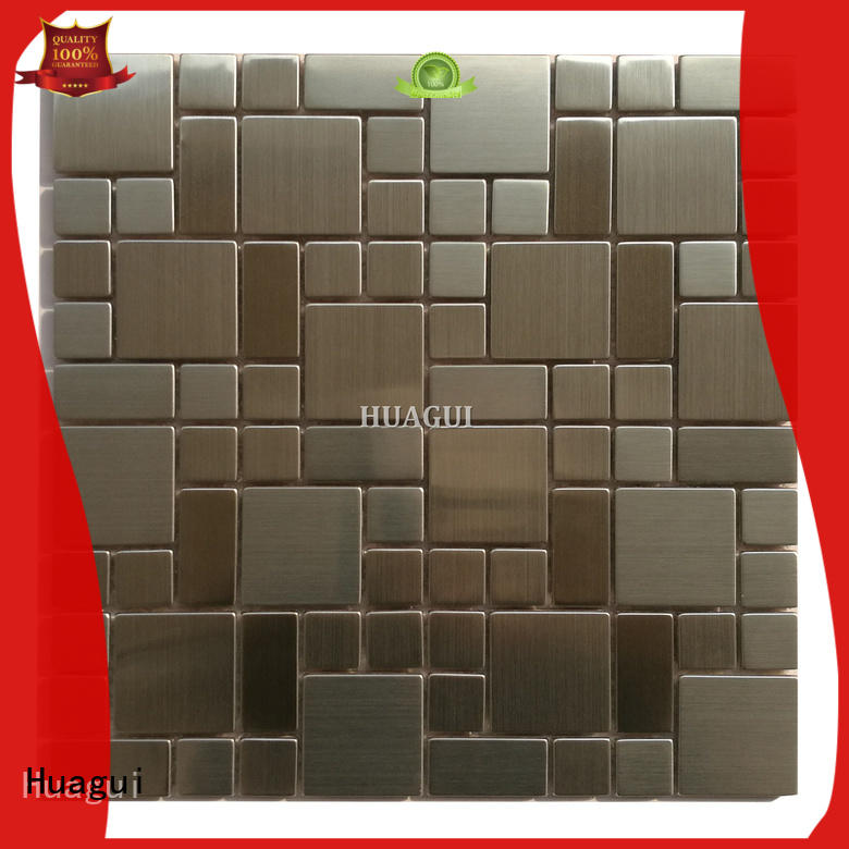 Huagui slender bronze mosaic tiles with standard styles for floor