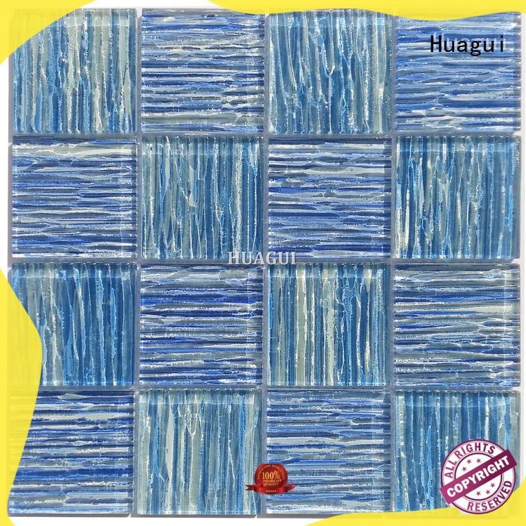 Huagui black pool tile mosaics wholesale supply for floor