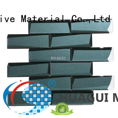 Huagui decorative green glass subway tile factory for outdoor