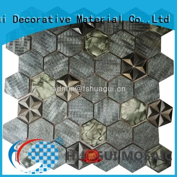 Huagui Brand metal antique copper mosaic tile manufacture
