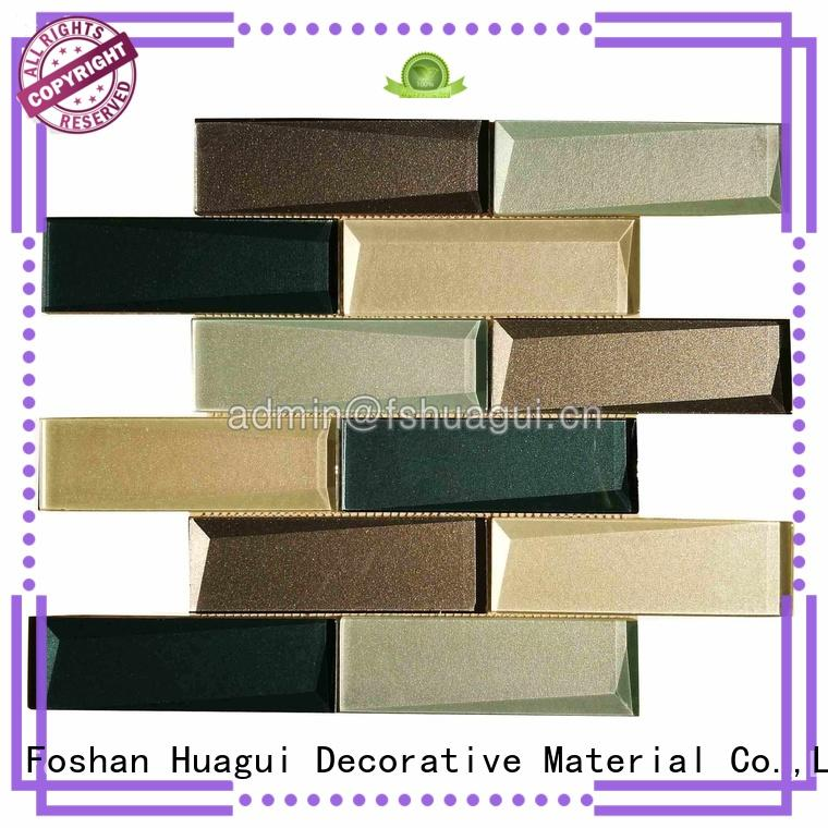 Huagui inkjet matte glass subway tile factory for outdoor