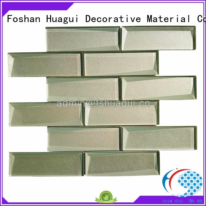 Huagui decorative brown glass subway tile corrosion resistance for floor