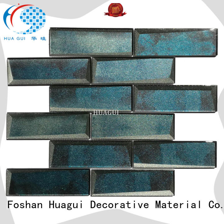 Huagui decorative light gray glass subway tile company for indoor