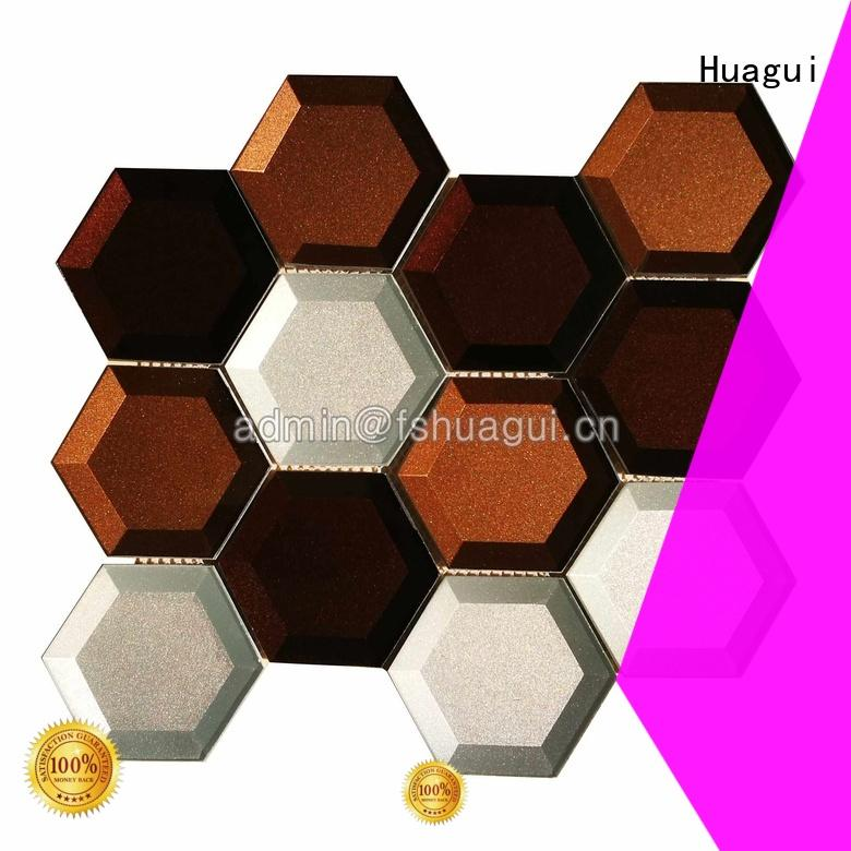 house purple glass mosaic tiles ice for outdoor Huagui